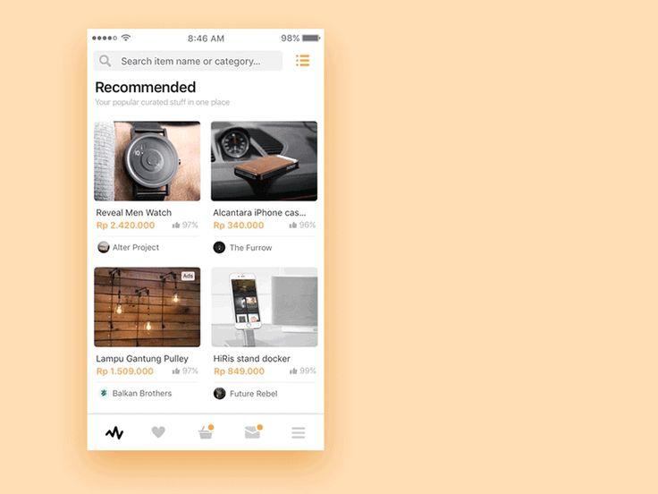 Toutes les semaines ne manquez pas d'inspiration et suivez les tendances de design UI avecla sortie des nouvelles conceptions d'interfaces. Nous choisissons parmi les multiples sites d'inspiration et de partage de conceptions graphiques les nouveaux travaux des meilleurs designers. Seulement de la nouveauté que vous inspirera pour vos conceptions d'interface. GIF ou PNG, mobile ou …