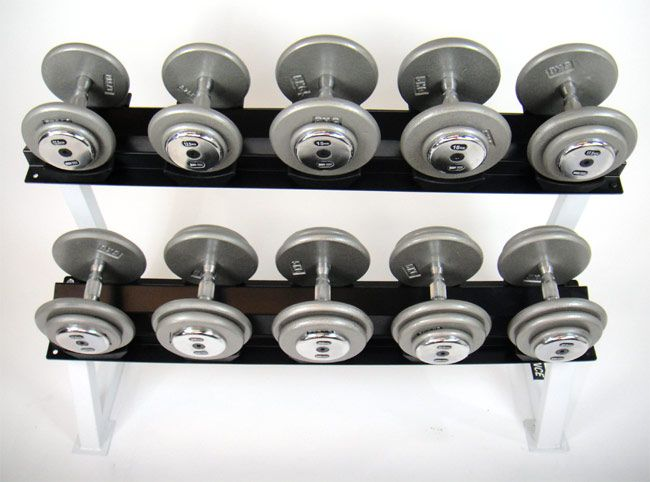 475 kg Commercial Hammertone Dumbbell Set with Rack - World Fitness