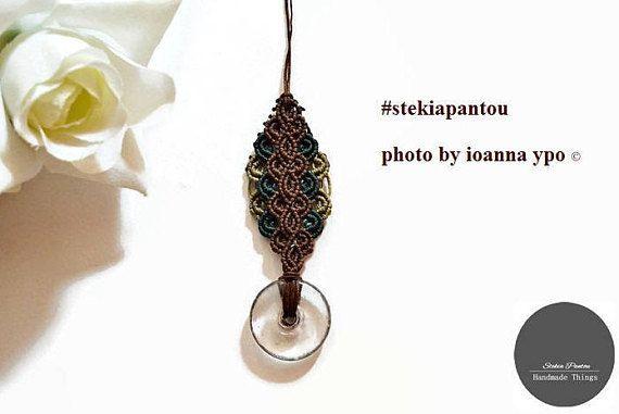Long necklace Colorful necklace Boho necklace Minimal