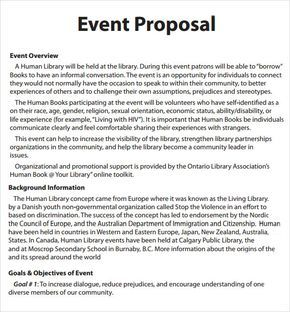 Event Proposal Template   16+ Download Free Documents In PDF, Word | Sample  Templates  Events Proposal Sample