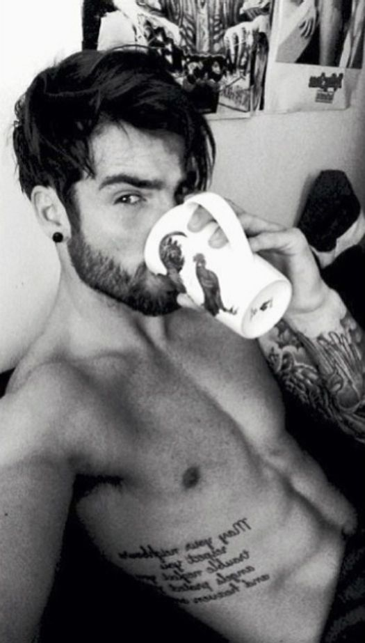 Waking up to him and a cup of tea, perfect! Mornin' everyone ❤️ | Follow http://www.pinterest.com/thevioletvixen/man-candy/ for more Man Candy!