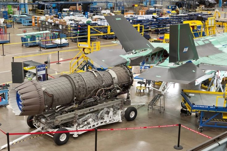 Motor Pratt & Whitney F135 on Lockheed Martin F-35 JSF