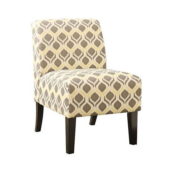 Ollano Yellow and Gray Fabric Armless Accent Chair   100    liked on  Polyvore featuring. Best 25  Yellow accent chairs ideas on Pinterest   Living room