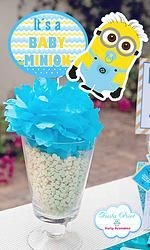 Lovely MINION Baby Shower Printable Centerpiece Topper #minionsparty  #minionspartyprintables #babyshower #minionsbabyshower
