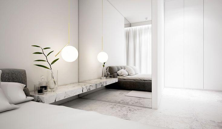 Wilanow Warsaw Apartment is a beautiful rendering of a modernapartment designed by Polish designer, Monika Siwińska.