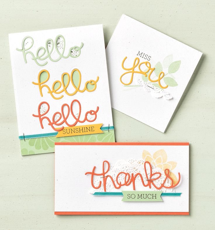 We're crazy about this stamp set and thinlit bundle!