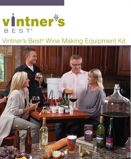 Vintner's Best One Gallon Wine Equipment Kit |Bulk Apothecary Wine Making Supplies