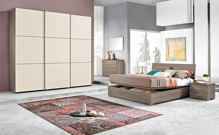 Con Pandora hai tutto lo spazio di cui hai bisogno in una camera da letto dal gusto elegante.