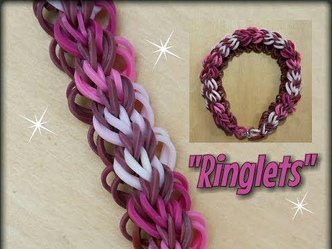 "My New "" Ringlets"" Rainbow Loom Bracelet/ How To tutorial - YouTube"