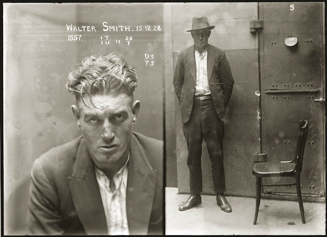 Vintage Glass Plate Negative Mugshots From the 1920s. These pictures are part of a