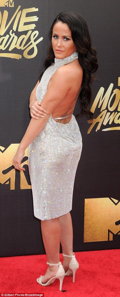 Shine bright like a diamond! Teen Mom 2 star Jenelle Evans, 24, wore a glittering halterne...