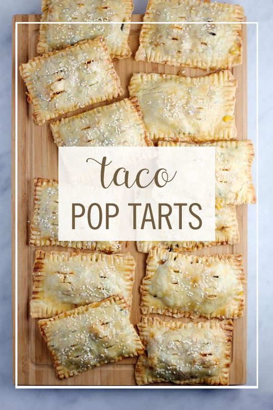 With this incredible combination of our favorite breakfast pastry and our favorite dinner food, we've come up with the perfect lunch: Taco Pop Tarts. It's a savory, lunchbox-friendly twist on a beloved childhood treat, perfect for both you and the kids. Click for the full savory pop tart recipe.