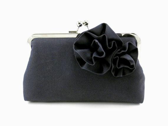 dark gray clutch