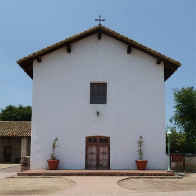 Mission San Miguel Archangel - the sixteenth one built in California, founded July 25, 1797 by Father Fermin Lasuen. The name San Miguel comes from Saint Michael, Captain of the Armies of God.