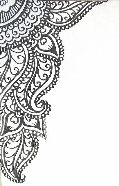 henna design- would look great on invite cards