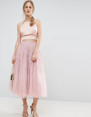ASOS Tulle Prom Skirt with Embellishment