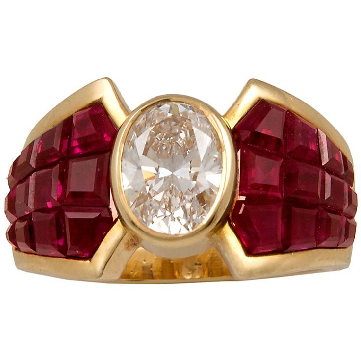 VAN CLEEF & ARPELS Mystery-set Ruby Diamond Ring | From a unique collection of vintage more rings at http://www.1stdibs.com/jewelry/rings/more-rings/