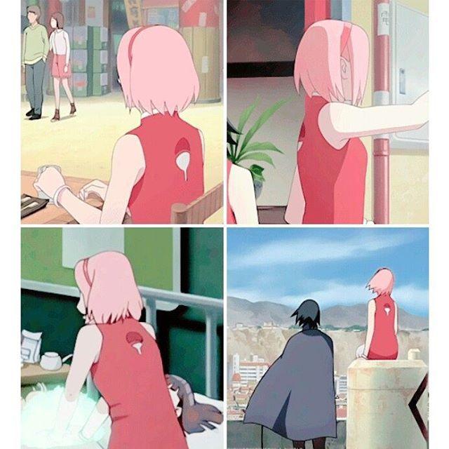 Sakura with the Uchiha crest❤