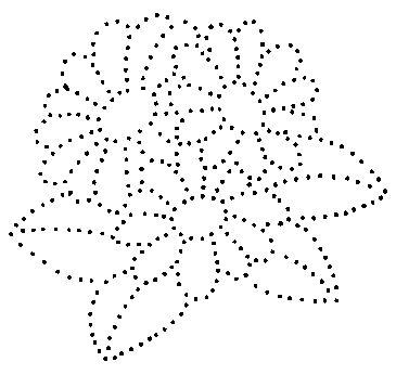 Flowers puntos con alfiler