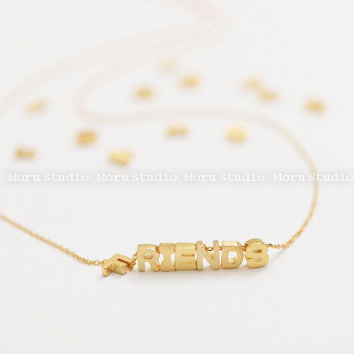 #Personalized #Initialnecklace #initialblock #DaintyGoldLetter #Small #Monogram #alphabetnecklace #Bridesmaid Jewelry