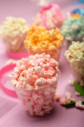 colorful popcorn | Ideas and Inspiration for a Purim Dessert Table