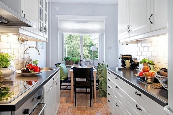 17 best images about small and narrow kitchen space on for Kitchen ideas narrow space