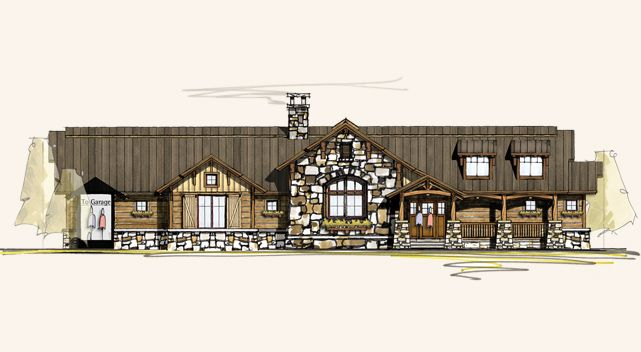 Prosperity | Ranch Style Home Designs | Log House Plans