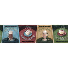 "allen + roth 6-3/8"" Jewel Tone Specialty Coffee Prepasted Wallpaper Border"