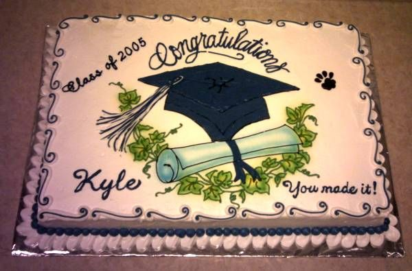 High School Graduation Cakes And Cupcakes