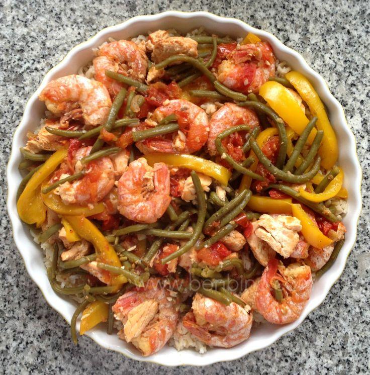 Rezept, laktosefrei, laktosefrei kochen, kiss the cook, kochen, cooking, Paella, Meeresfrüchtepaella, Meeresfrüchte