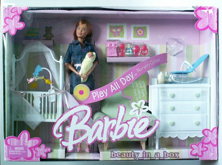 Midge & Baby Barbie Doll Happy Play All Day Nursery Gift Set Family Playset