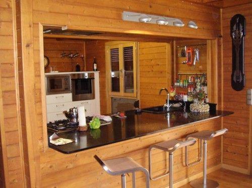 Interior casas prefabricadas de madera buscar con google for Cocinas prefabricadas