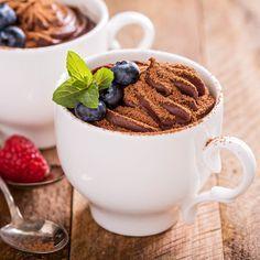 Rezept für eine einfache Low Carb Schokomousse - ein einfaches Dessert-Rezept für eine kalorienarme, kohlenhydratarme Süßspeise ohne Zusatz von Zucker ...