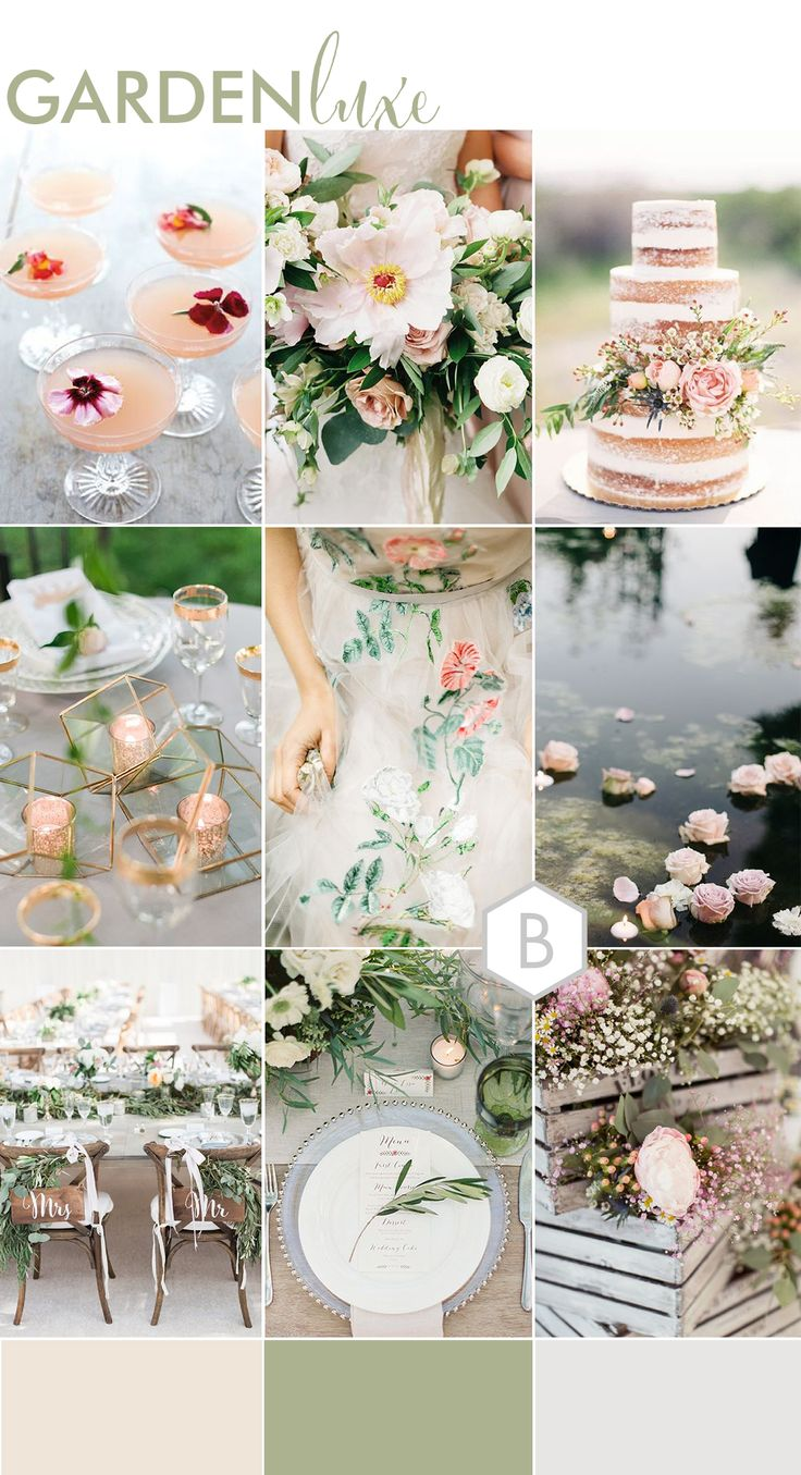 Garden Luxe | Wedding Moodboard for Bohemian Luxe, Rustic Luxe and Fine Art Weddings | Created by Catharine Noble Photography exclusively for BLOVED Blog