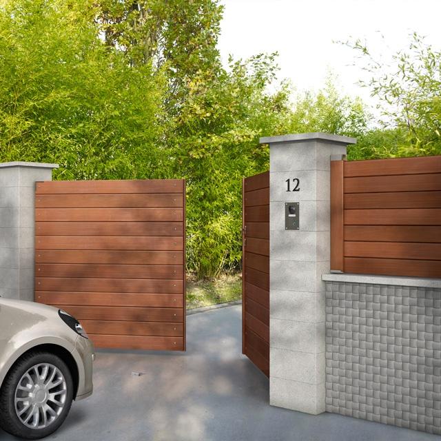 les 25 meilleures id es concernant portail bois sur pinterest numero maison bois de cl ture. Black Bedroom Furniture Sets. Home Design Ideas