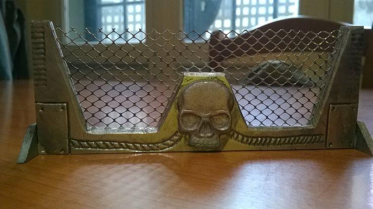 Warhammer 40k barricade with skull