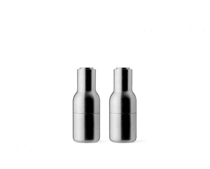 Bottle Grinder Metal Mühlen-Set - Stahl, gebürstet von Menu im Danish Design