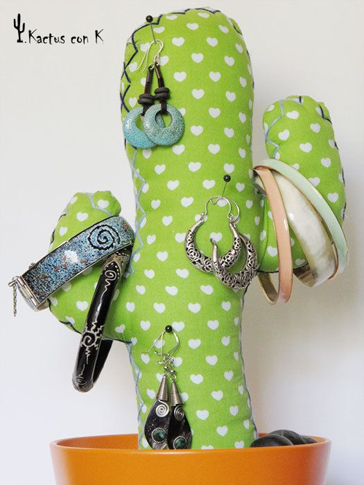 Customized handmade fabric cactus por KactusconK en Etsy