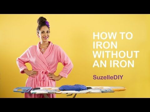 SuzelleDIY - How to Iron without an Iron - YouTube