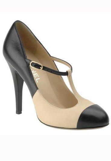 Escarpins - salomée Chanel - escarpins Chanel noir et blanc