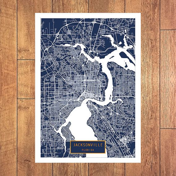 JACKSONVILLE Florida City Map Jacksonville by JackTravelMap