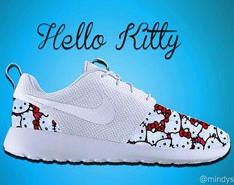 Hello Kitty Roshe Run, Roshe Run, Nike Roshe Run, Hello Kitty Shoes, Custom Hello Kitty Shoes, Hello Kitty Inspired,