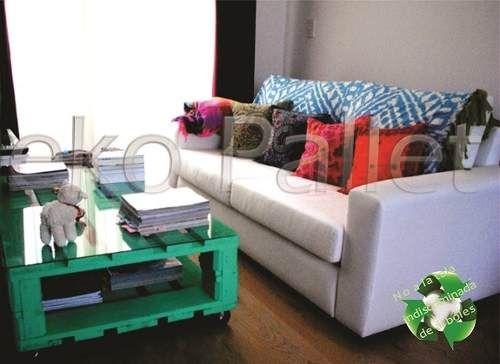 Muebles De Baño Reciclados:mesa ratona pintad doble de madera de pallet,palet