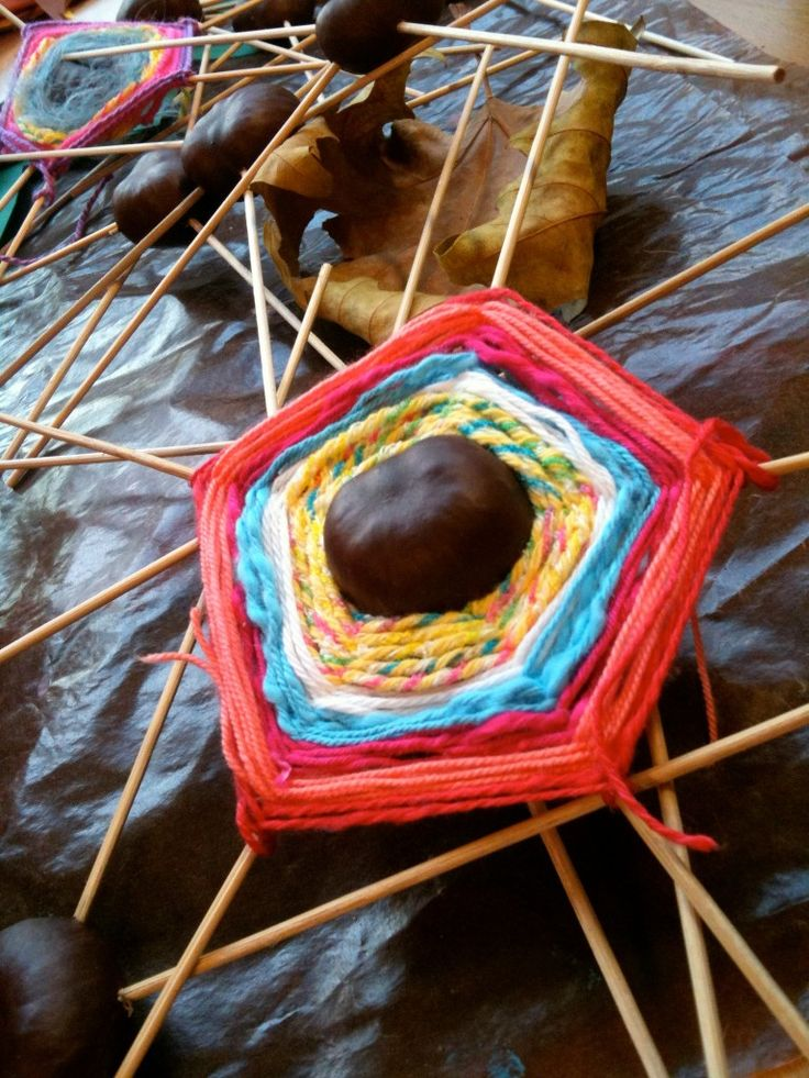 Nice yarn craft; that's a chestnut in the middle