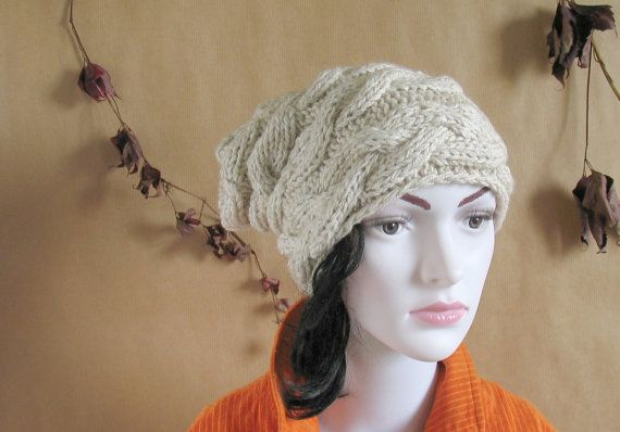 Slouchy Beanie Slouch Hats Oversized  Winter by recyclingroom