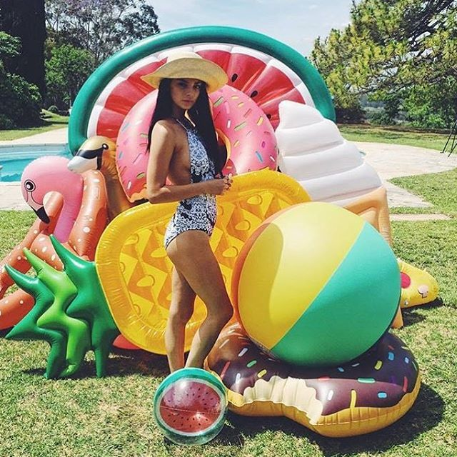 """""""LAST DAY OF SALE. All inflatables on sale. Great BTS shot from @reallivingmag styled by the very clever @sarah_ellison_stylist #inflatable #pineapple #flamingo #donut #watermelon #icecream #toucan #swan #opentill4"""" Photo taken by @papierdamour on Instagram, pinned via the InstaPin iOS App! http://www.instapinapp.com (01/17/2016)"""
