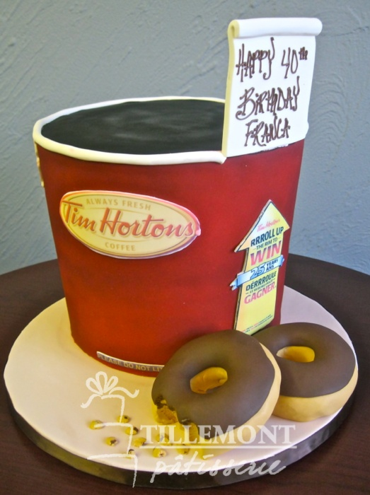 Tim Horton's Roll up the Rim to Win cake! Awesome! LOL
