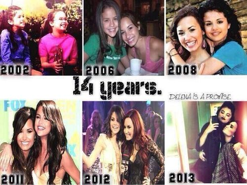 Demi Lovato and Selena Gomez !!! From Barney to princess protection program to camp rock and wizards of waverly place etc. !!!!!