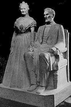 The First Statue Of Abraham Lincoln And His Wife Mary