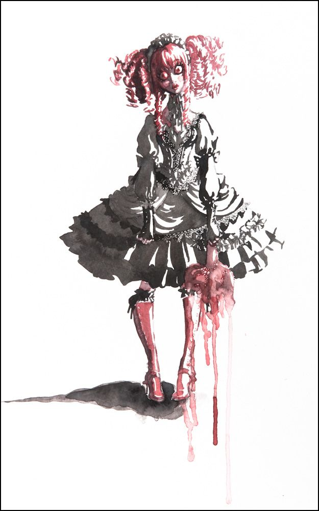 Re-Designing History Illustration Competition winner inspired by Lolita style